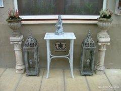 Provence bútor, fehér antikolt Thonet kis asztal 11.