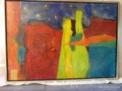Eredeti Piszkátor Ildikó: Szerelmes éjszaka festmény