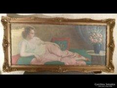 1723 Pammer János (1885 - ) : Fiatal fekvő nő