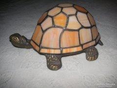 Tiffany art  teknős lámpa