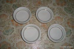 4 db porcelán pohár alátét aranyozott szegéllyel