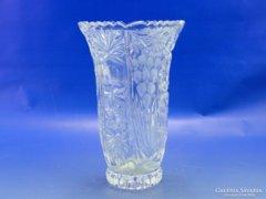 0B190 Vastagfalú díszes üveg váza