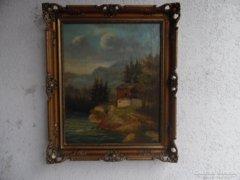 Antik festmény. 1860-körül.(főoldalon kiemelve)