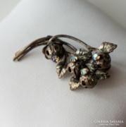 Antik virágos filigrán bross, kitűző