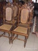 6 db neoreneszánsz szék