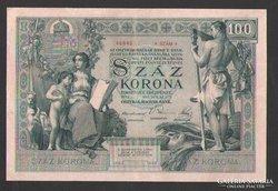 100 korona 1902. (GYÖNYÖRŰ) !!!  NAGYON RITKA!!!