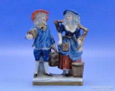 0B674 Unterweissbach porcelán vízhordó figura pár