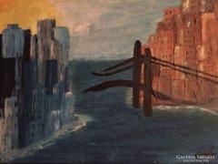 A HÍD - eredeti,modern absztrakt festmény