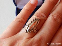Mutatós női alpakka gyűrű