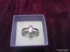 Cirkon köves ezüst gyűrű