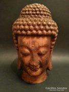 Antik bronz Buddha fej