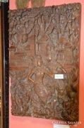 Indonéz faragott falikép