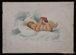 Kátayné Helbing Aranka: Baba-kép- Kisgyermek