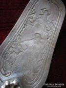 Óriási SZECESSZIÓS tortalapát ezüstözött ANGYAL 1912