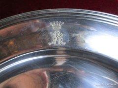 ART DECO óriási kináló Báró korona koronás monogramm