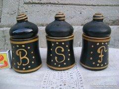 Kerámia fűszertartó - 3 darab - együtt eladó