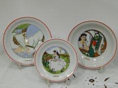Zsolnay Hófehérkés tányér készlet