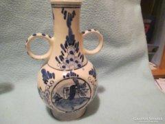 Delft mintás két fülű  váza Sok egyéb Delft