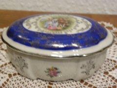 Porcelán Ékszertartó - Jelenetes