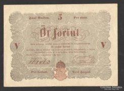 5 forint 1848. EXTRA SZÉP!!! (EF++)!!!  BARNA!!!