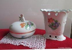 Herendi porcelán bonbonier doboz aranyozott nagyméretű