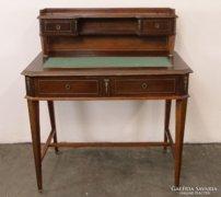 0C770 Antik empire rézveretes női íróasztal