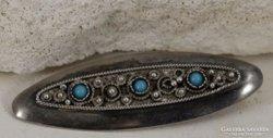 Régi Izraeli bross,türkiz kövekkel