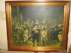 Bomba ár! Rembrandt Éjjeli őrjárat  antik keretben