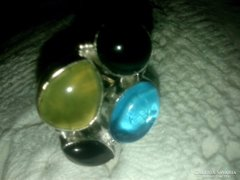 925 ezüst féldrágaköves gyűrű