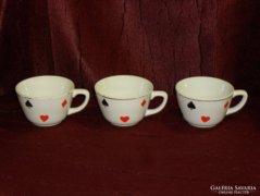 3 db régi römis gránit teás csésze  ( 0030 )