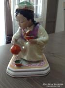 Régi orosz Dulevo porcelán figura