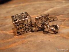 Antik angyalos nyitható 925 ezüst medál EGYEDI