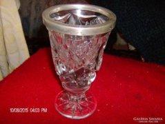 Gyonyoru ezust es kristaly pokal/pohar 1860-bol ir szarmazas
