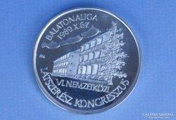 0D455 Jelzett ezüst látszerész emlékérme Fritz M.