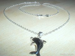 Ugró Delfin  925-ös ezüst nyaklánc