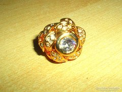 Régi Cikon köves Leveles 18k Arany bev. gyűrű