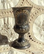 Antik Diana fejes ezüst boros kupa 17 cm 155 gramm