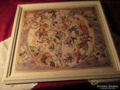 Asztrológia csillagképek régi falikép