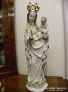 Herendi - Koronás Madonna, kisdeddel ( 56 cm. )