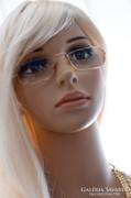 Arany keretes szemüveg, szemüvegkeret