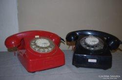 Retro bakelit telefonok, hiányosak