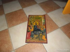 Nagyon szép ikon antik fára festett