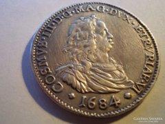 Nagyon ritka RR!!!  III. COSIMO MEDICI 1684 ezüst PIASZTER!