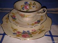 Királyi Bareuther Bavaria porcelán teás reggeliző szet