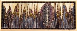 Üvegmozaik lámpa, művészi - art glass mosaic handwork lamp