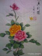 Eredeti kínai festmény-selyemre festett