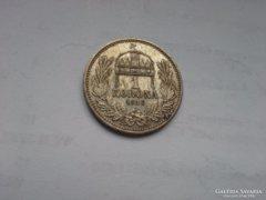 1915 ezüst 1 korona patina szép db magyar KB