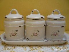 Porcelán fűszertartó 3 részes