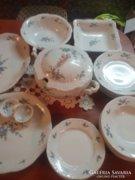 Zsolnay kék baracvirágos étkészlet