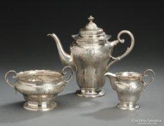 Ezust  teas kaves keszlet talcaval,1086 gr,800-as,dan